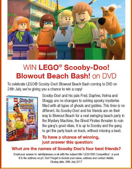 Win Lego Scooby Doo Blow Out Beach Bash DVD | Primary Times