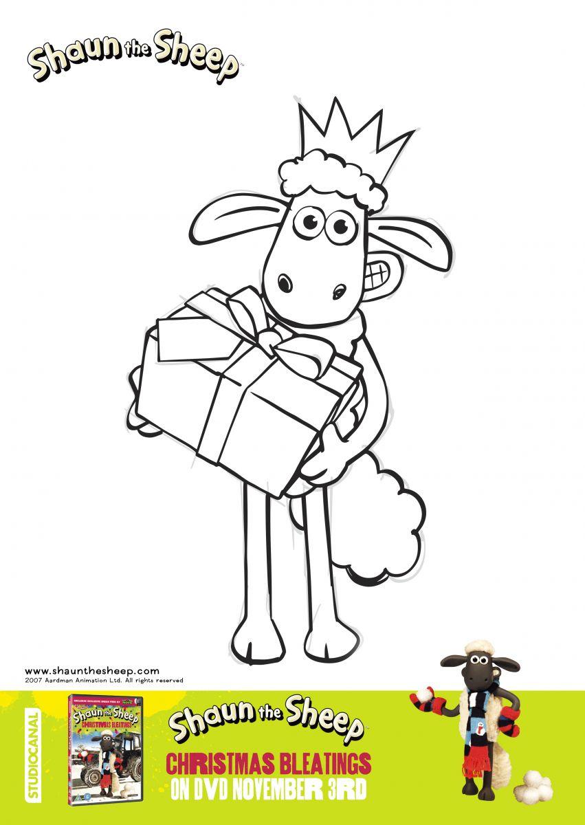 shaun the sheep christmas bleatings colouring sheets kid u0027s