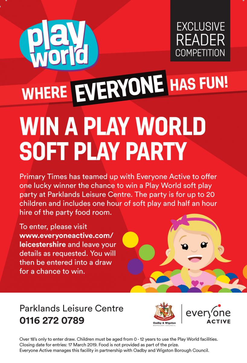 Win a play world soft play party   Primary Times