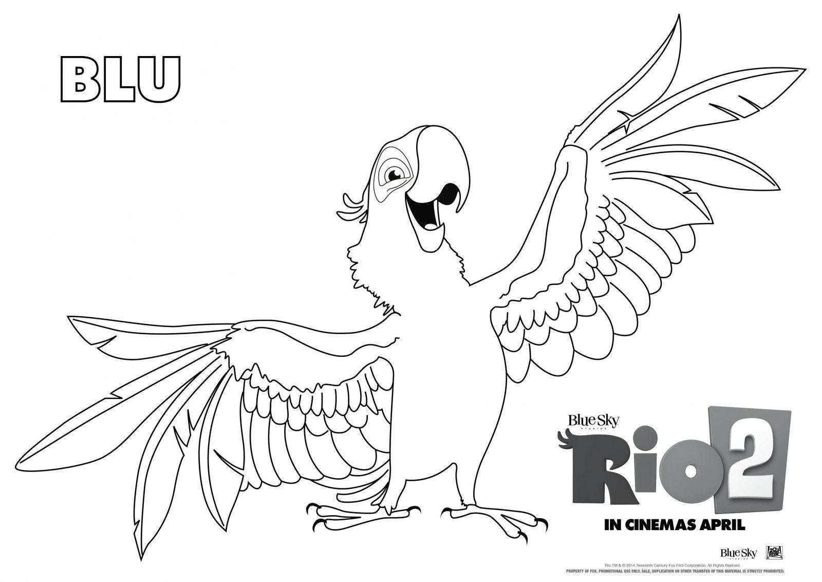fun rio 2 colour activity sheets - Fun Pictures To Colour In 2