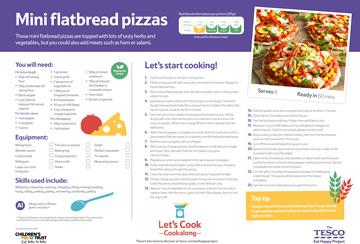 Tesco eat happy flatbread pizza recipe card kids activities tesco eat happy flatbread pizza recipe card forumfinder Choice Image