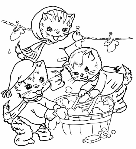 kitten counting and colouring activity - Colouring Activities For Kids