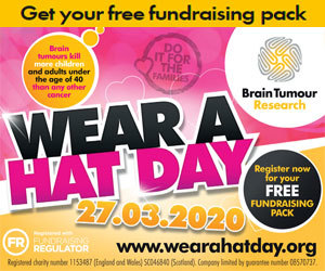 Advert: https://www.braintumourresearch.org/fundraise/wear-a-hat-day