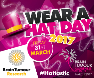 Advert: https://www.braintumourresearch.org/wearahatday