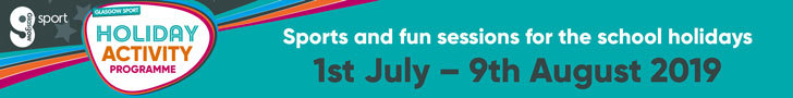 Advert: https://www.glasgowlife.org.uk/sport/glasgow-sport-holiday-activity-programme?utm_source=PrimaryTimes&utm_medium=Package-Mixed&utm_campaign=GSport-SummerHoliday-Jun-Jul%2719-SM