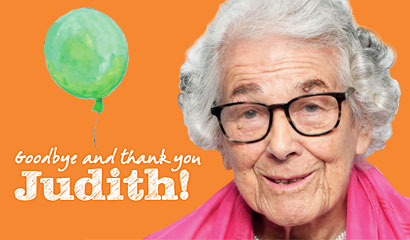 Goodbye and thank you Judith!