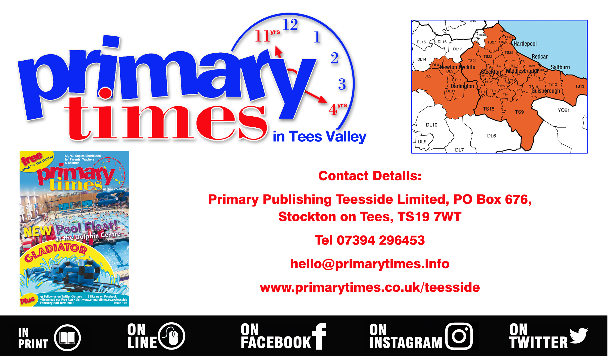 How to get in touch with Primary Times Tees Valley